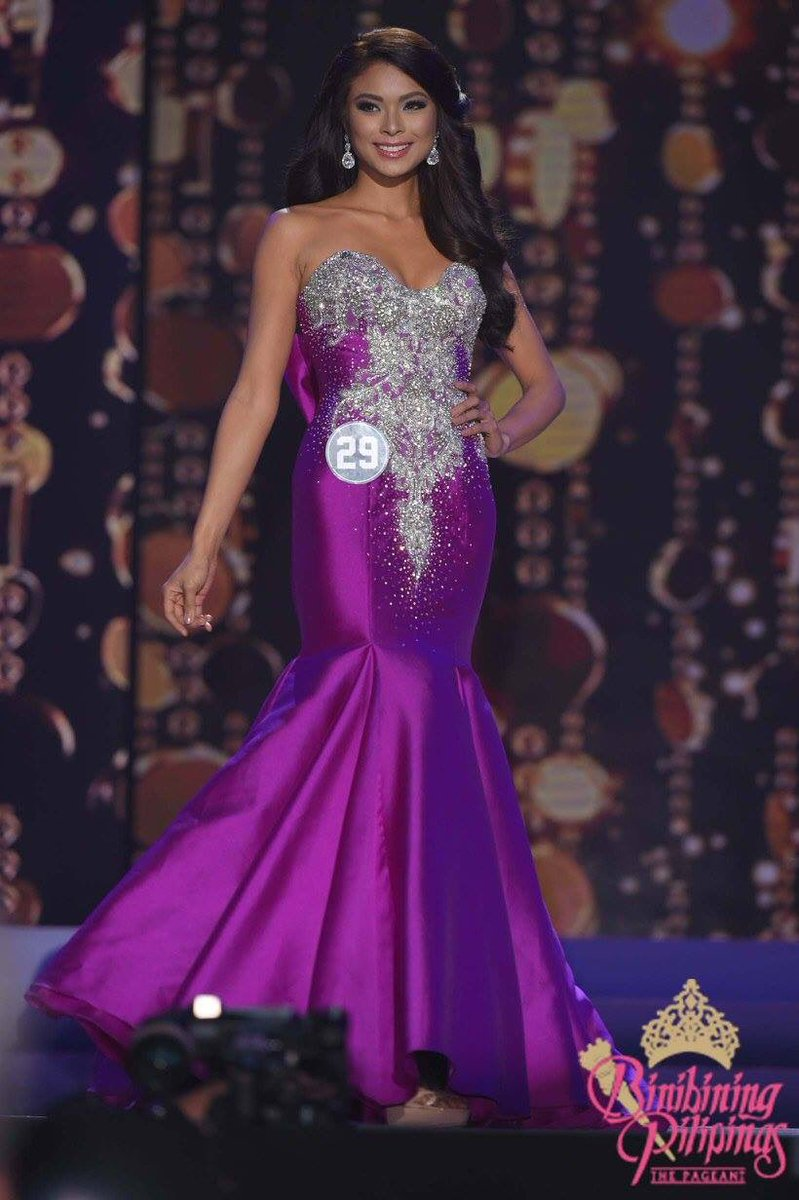 The new miss universe philippines maxine medina in her evening gown ...