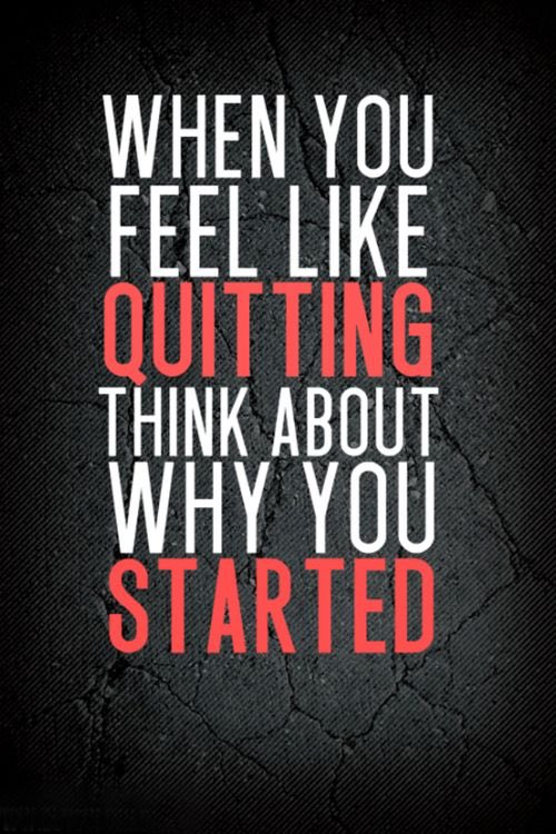"""When you feel like quitting, think about why you started."" #ThinkBIGSundayWithMarsha https://t.co/NRx3AeNnpJ"