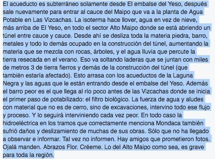 MAS SOBRE AGUAS ANDINA-ALTO MAIPO con AGUAS SEDIMENTADAS/lea por favor/a esclarecerse y tmb potenciar el espíritu https://t.co/KVTnUG1Cue