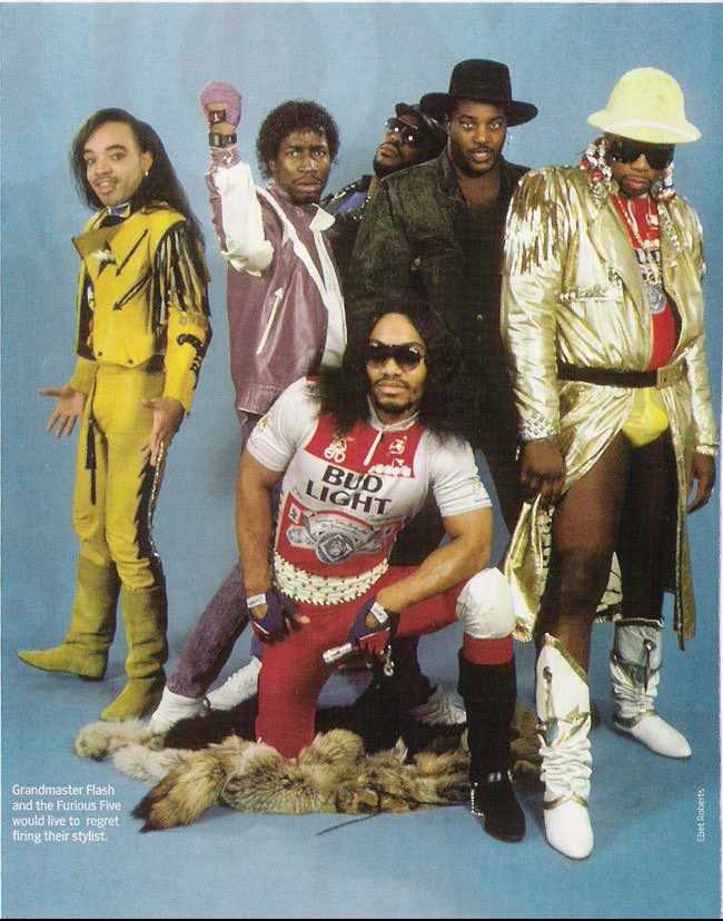 HIP-HOP STARTED OUT WITH DUDES IN YOUNG THUG OUTFITS. AND WHAT'S DUDE TRYING TO SAY WITH THAT FIST?