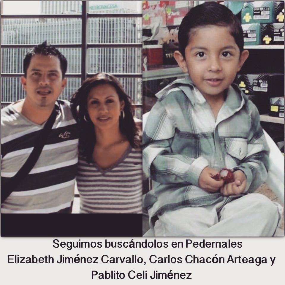 [ #DesaparecidosEC ] RT @PaolaCueva16 en Pedernales se busca a Elizabeth Jiménez, Carlos Chacón y Pablito Celi. https://t.co/1LTNQSapQZ