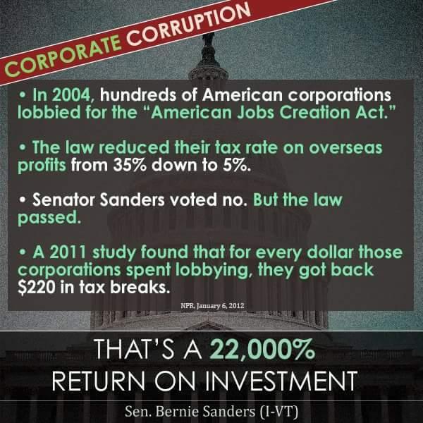 1st on the corruption train  Hillary Clinton. Banks Oil Monsanto & the Military & Prison complex. #Elections2016 https://t.co/cf1nq97Hfj