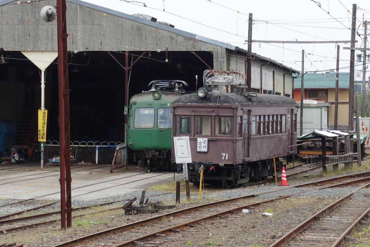 青ガエル、無事です。 #熊本電鉄 https://t.co/ettYx1ZkxK