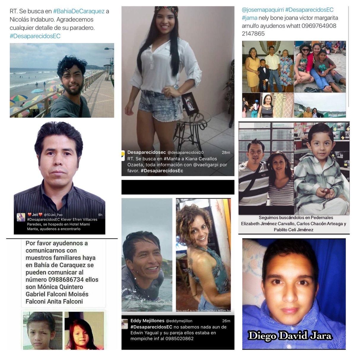 Seguimos buscándolos, cualquier información es valiosa para sus familias. #DesaparecidosEC