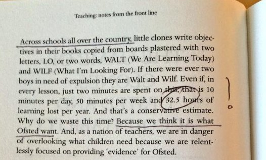 """In schools all over the country, students LOSE 32.5hrs PER YEAR copying down lesson objectives."" @debrakidd https://t.co/b8l3nlQvuF"
