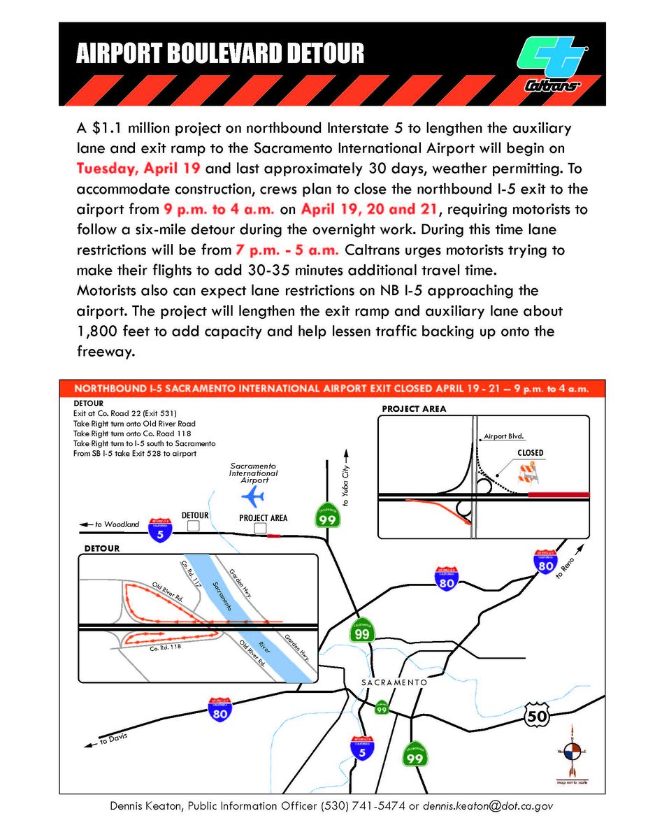 Reminder @CaltransDist3 project April19-21 impacts drivers to SMF 7p-5a. Add 30mins to drive https://t.co/wWiR7l9dKg https://t.co/DPEuSt4FbR