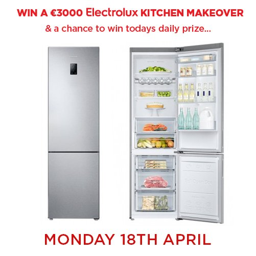 Don't forget to enter our daily prize draw plus your chance to win a €3,000 dream kitchen! https://t.co/0Q46rOCPwn https://t.co/4ozyTQCNTx