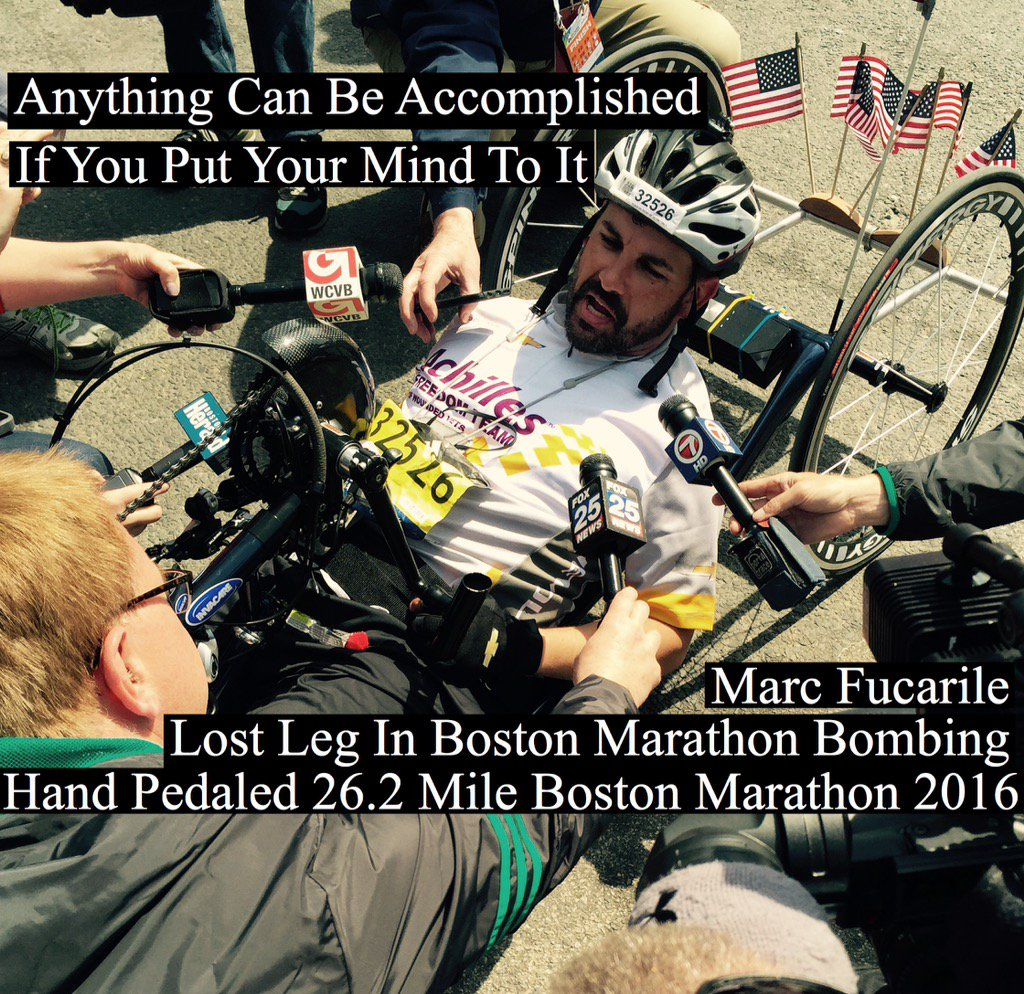 At Boston Marathon Finish Line. Some amazing stories. Including this one. Join me #Fox25 News 5/6PM https://t.co/lYbe39sSam