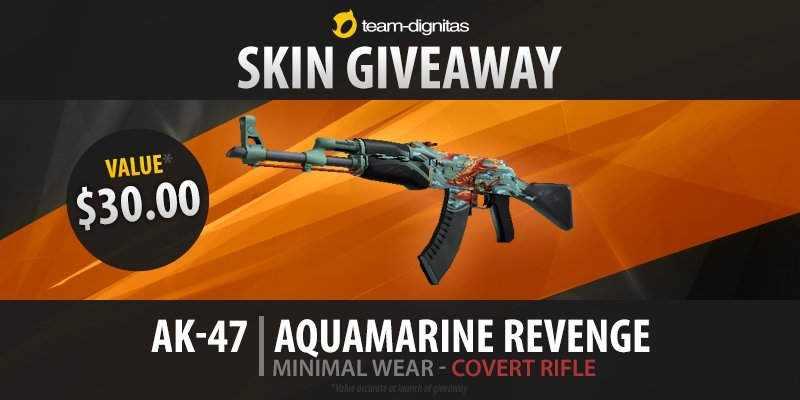 AK-47 | Aquamarine Revenge (Minimal Wear) Giveaway!   Retweet & follow, enter on gleam: https://t.co/QevCYgrhdm https://t.co/qSHL25E4gY