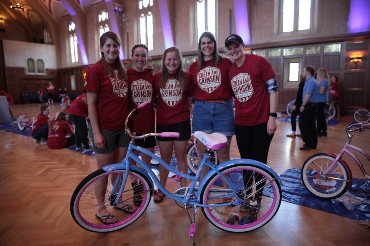 .@Delta & Indiana University partner for bike build prior to Little500 weekend.