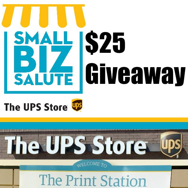 WIN a $25 Visa Gift Card from my @TheUPSStore #Giveaway   ENTER HERE--->https://t.co/YICZTjPTKP #ad  #SmallBizSalute https://t.co/XASB75GKjg