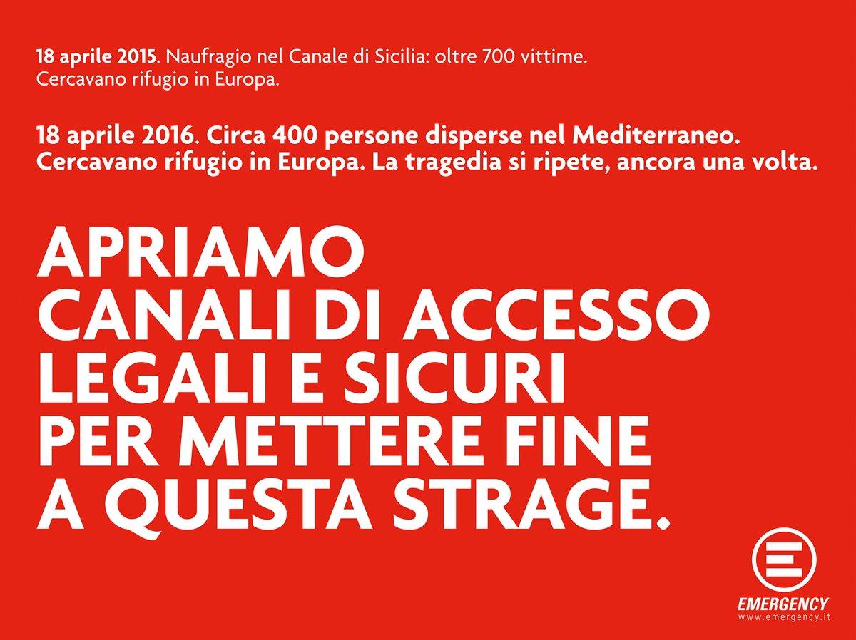 APRIAMO CANALI DI ACCESSO LEGALI E SICURI PER METTERE FINE A QUESTA STRAGE #Mediterraneo #migranti https://t.co/xLegMkYTiM