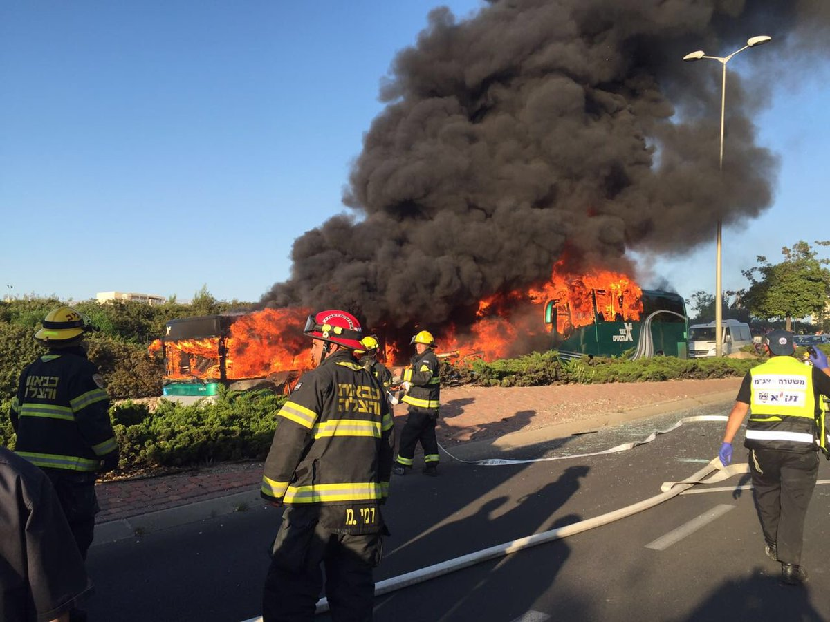 First photos of massive explosion on a bus in #Jerusalem https://t.co/l1TEm9d33T