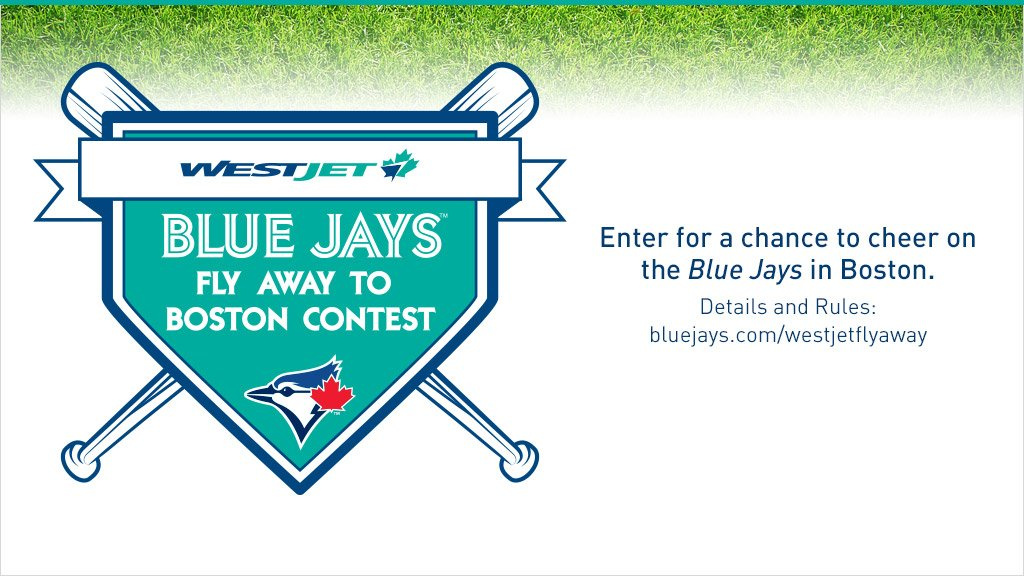 Want a chance to cheer on the @BlueJays in Boston with @WestJet? Contest details here: