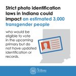 Transgender voters face strict voter ID laws in Indiana. https://t.co/SG3RqAp9y9 https://t.co/iTCOkuZJPD