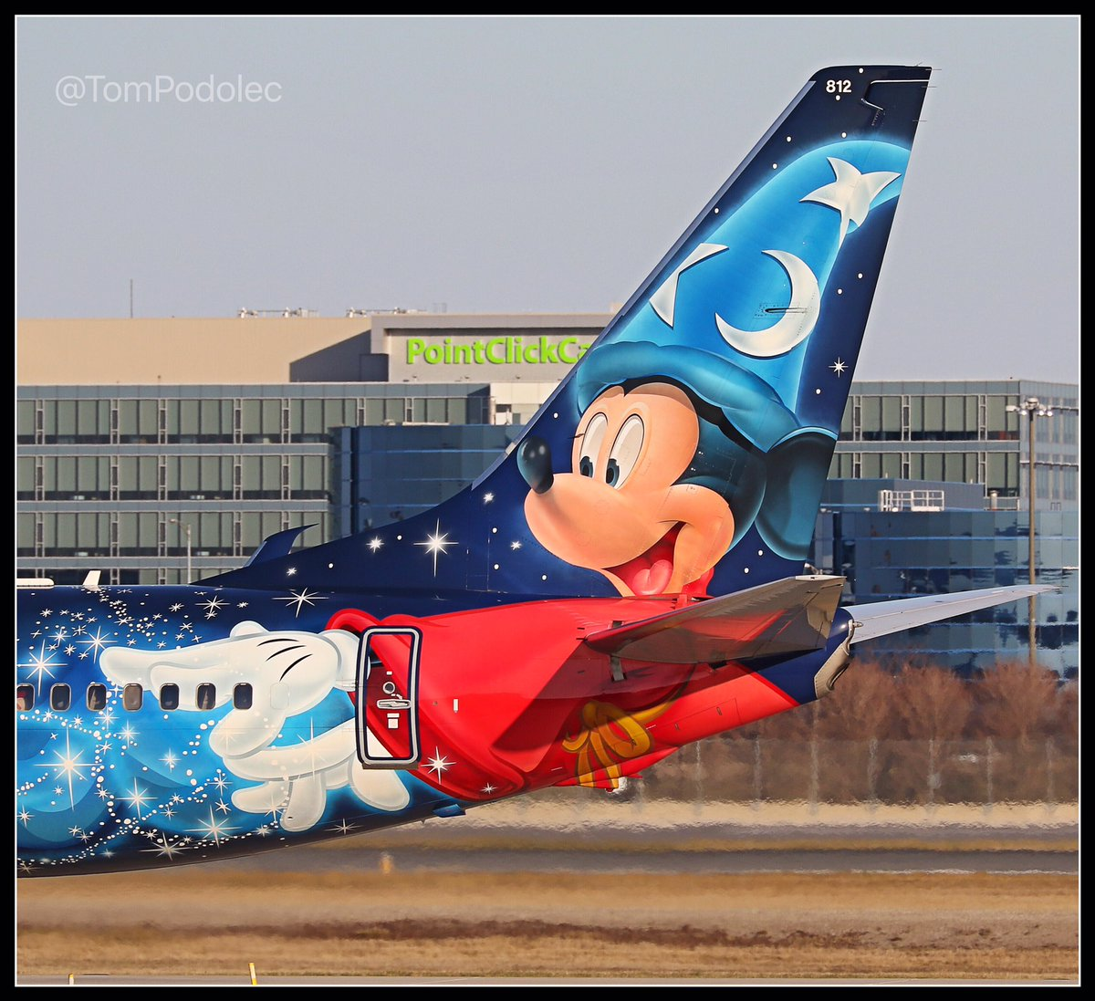 RT @TomPodolec: PHOTO @WestJet's MagicPlane Mickey tail Toronto @TorontoPearson