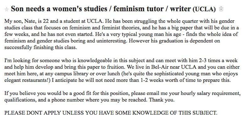 Job Alert/Rom Com Alert: Tutor a 22-yr-old Bel-Air boy in feminism (at elegant restaurants!) https://t.co/28exJ61rSN https://t.co/cYc12ETaDs