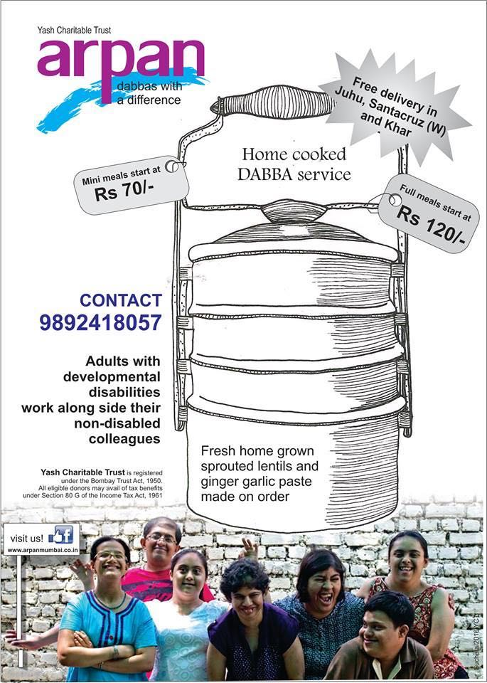 Home cooked DABBA service! Support. If you are in Bandra, Khar, Santacruz, Andheri, V Parle and Juhu.  #Mumbai https://t.co/CnWkCjKdJc