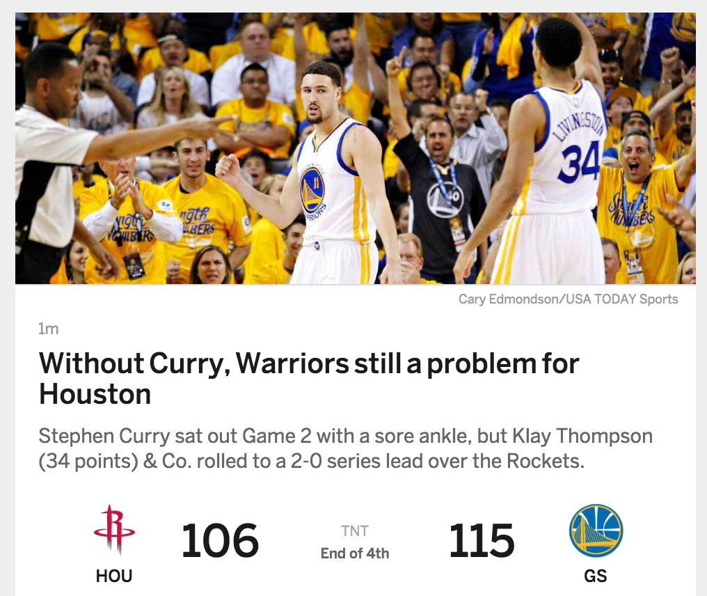 .@JeremySF currently gracing homepage of https://t.co/kmK7awUd2K -  guy is everywhere #warriors cc @Reeve https://t.co/D65eskU1Wv