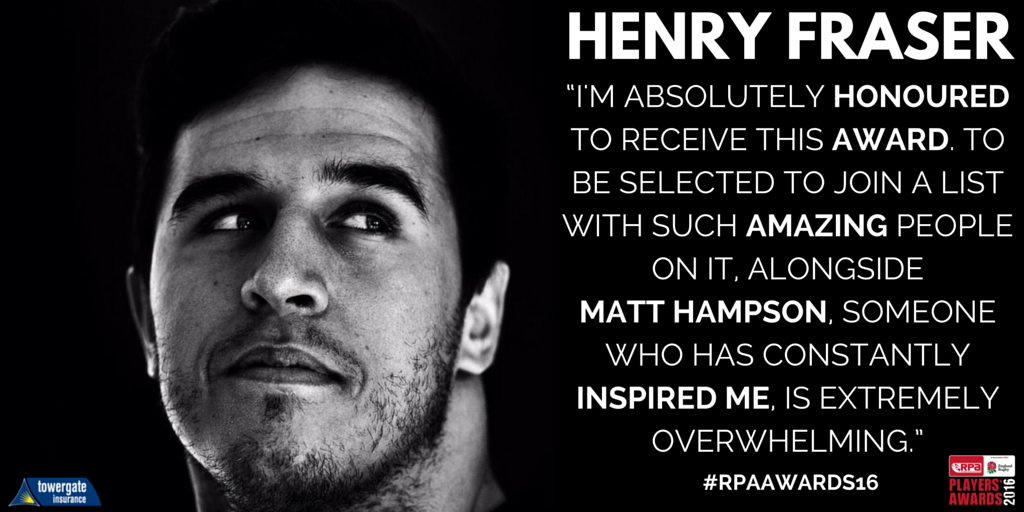 RPA NEWS | @henryfraser0 to receive @Towergate #RPA Blyth Spirit Award at #RPAAwards16: https://t.co/ygVHgKAgq8 https://t.co/6ayC5WzV4A