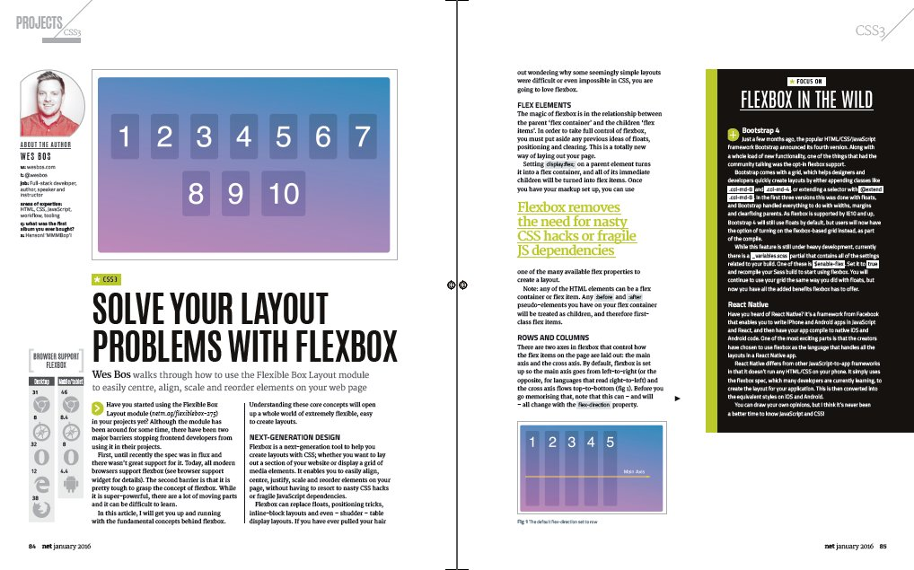 Essential read! The web designer's guide to flexbox, by @wesbos: https://t.co/OWe8Q8ZZ2c #css #flexbox https://t.co/zLmZmZMYMu