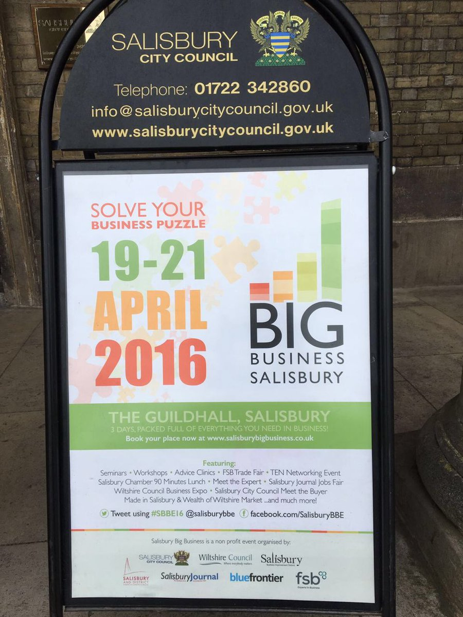 We're at Big Business Salisbury today! Thanks @mikesouthon for the great #sales talk #SBBE16 #salisbury #business https://t.co/i42lFS9pgD