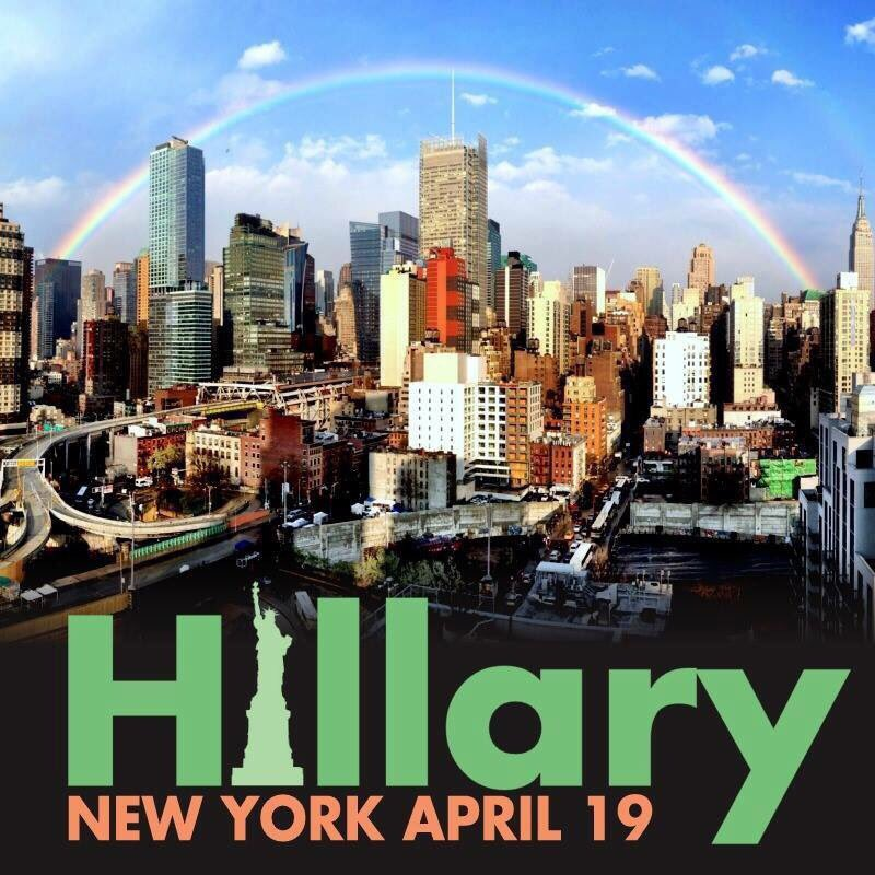 Today's the day, New York! #PrimaryDay #ImWithHer ❤️ https://t.co/Hgr7pD8Yag