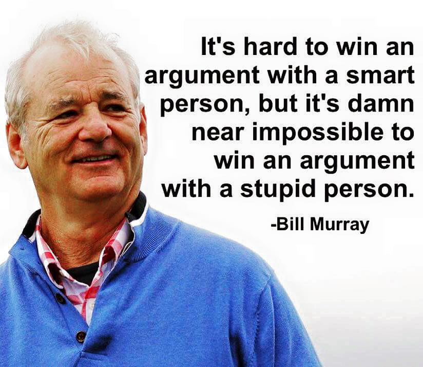 It's hard to win an argument with a smart person, but it's damn near impossible to win an argument... https://t.co/xU32uMLSjD