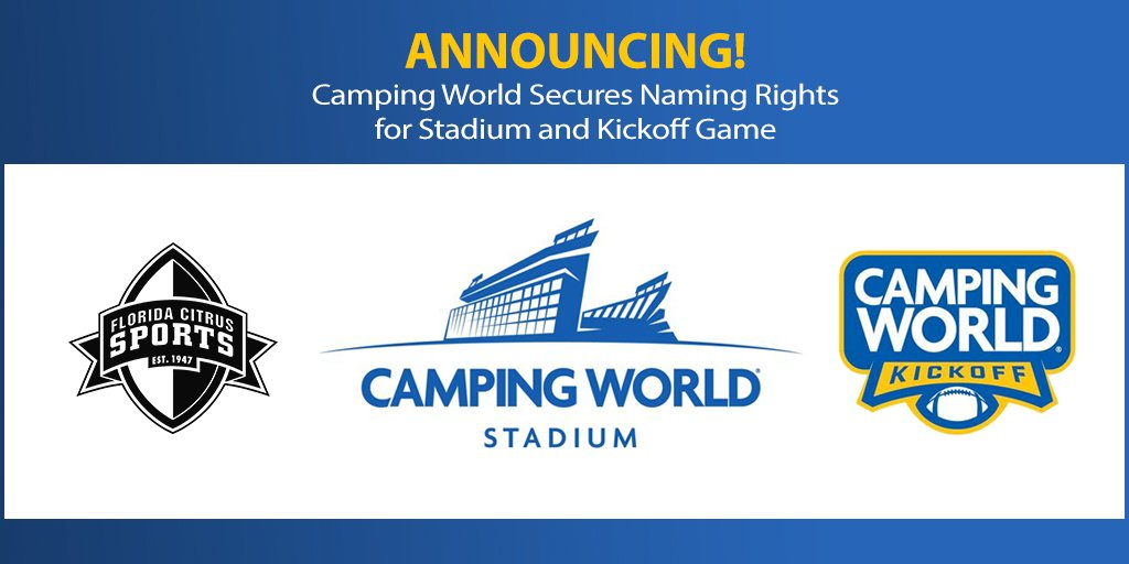 We're thrilled to announce the arrival of Camping World Stadium: https://t.co/GHLBs4QwNv https://t.co/jqr3tp9Gdn