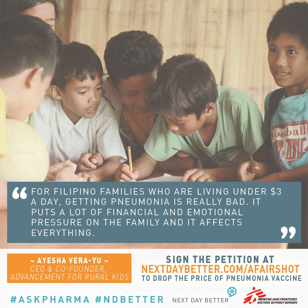 RT @NextDayBetter: A child dies of pneumonia every 35 seconds. SIGN to #askpharma to drop the price of vaccine: https://t.co/PlMygeZQq9 htt…