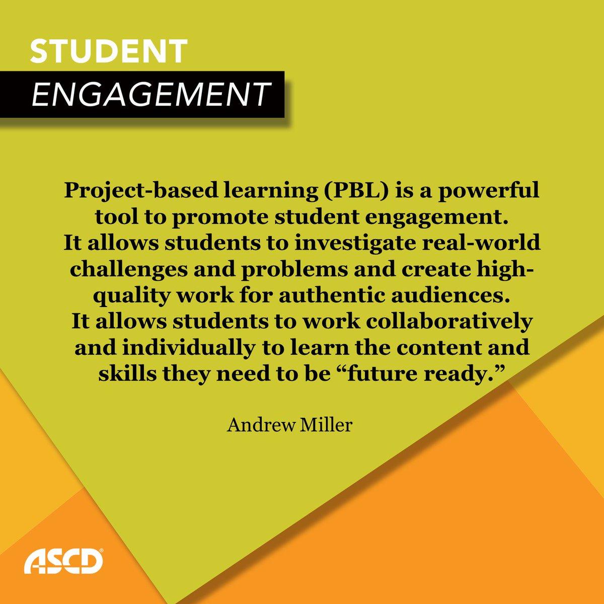 Three Tips for More Engaging #PBL Projects https://t.co/800P1TQxXL @ascd #pblchat @johnlBIE @BIEpbl @suzieboss https://t.co/RrcLBfQBID