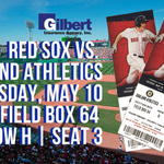 CONTEST! RT+Follow @Gilbert_Ins & @OnlyInBOS to enter to win 2 Field Box Red Sox tix for May 10th! DM winner 9pm. https://t.co/Jp5UOppsRV