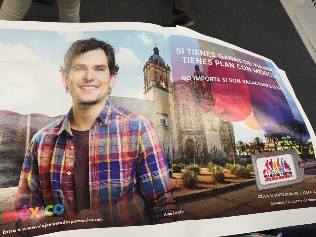 Qué emoción!  @alan_estrada @alanxelmundo es la imagen de la nueva campaña de #México https://t.co/6KG5kcTg1T
