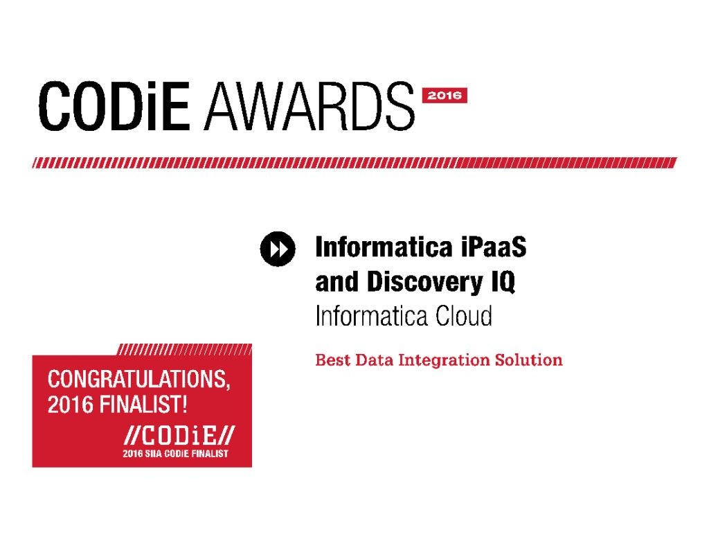 News: @Informatica Named as a @CODiEAwards 2016 Finalist https://t.co/sgXcirEW7h #cloud https://t.co/QHa8j4c4kN