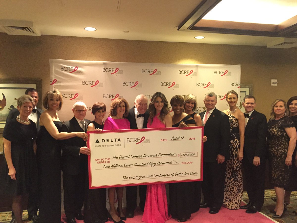 .@Delta raises $1.75 million for breastcancer research @DeltaNewsHub