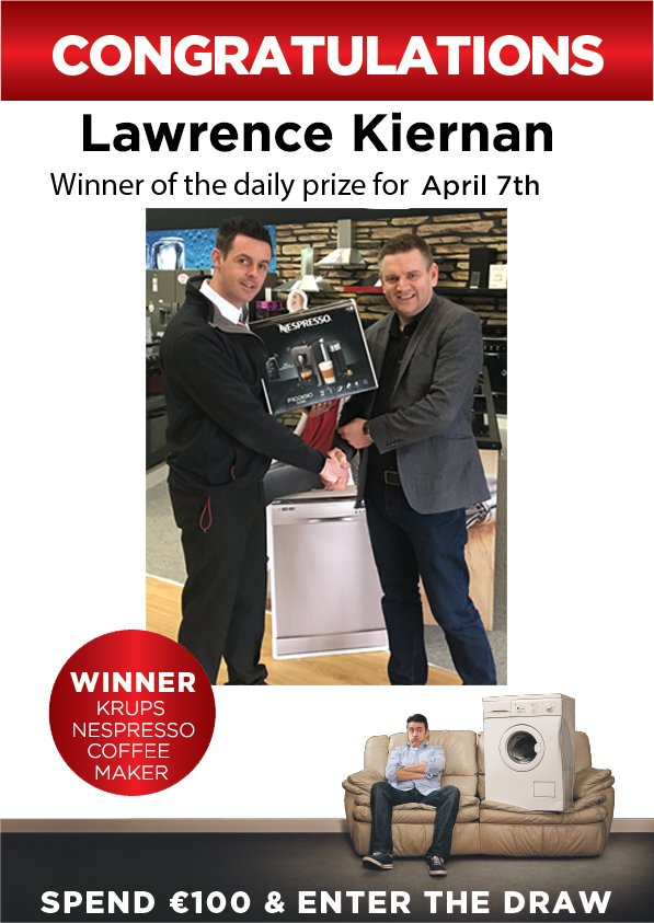 Congrats Lawrence Kiernan, one of the daily prize winners after buying a laptop in Mullingar https://t.co/IcEIjhWzUY https://t.co/K8bXgKxVX5