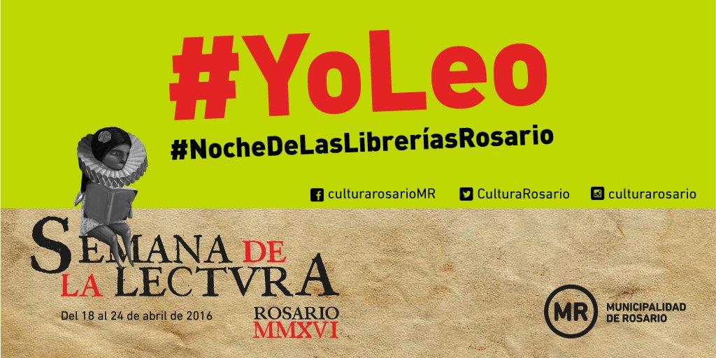 Esta #SemanaDeLaLectura compartí la foto de tus lecturas bajo los HT #YoLeo y #NocheDeLasLibreríasRosario https://t.co/2zF8v4JUcO