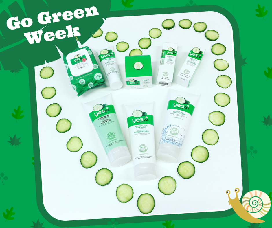 #win the ENTIRE @YesTo_UK Cucumbers range this #GoGreen Week! Simply tell us what you say YES TO to #GoGreen! https://t.co/BfxId8et3R