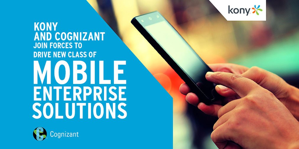 Kony and @Cognizant Join Forces to Drive New Class of #Mobile Enterprise Solutions https://t.co/OPePX9TNsF https://t.co/yBxPB2fp3T
