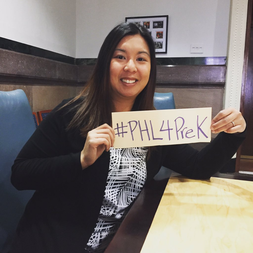 As a mom of a family living in #Philly I'm showing my support for #PHL4PreK