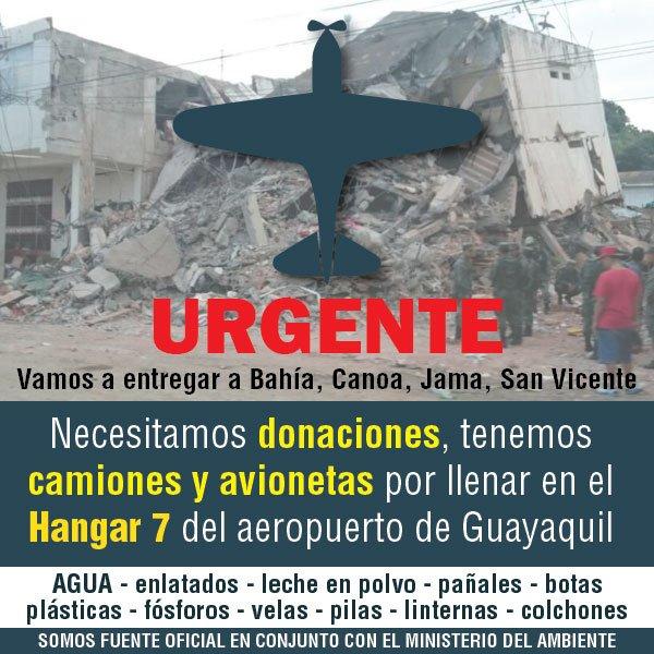 Si desean seguir donando, esta es una vía rápida, certera y por demás segura. #EcuadorUnido https://t.co/ih0VzGYeKZ