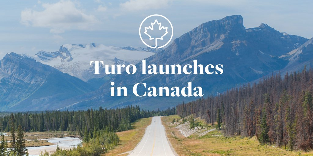 We are excited to announce that Turo is now available in Canada! https://t.co/6ScMBMa4w2 https://t.co/IjhCmUcK0E