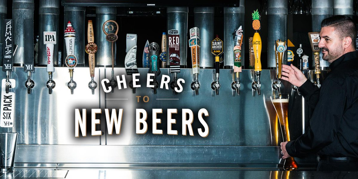 Try over 20 NEW craft, local & import beers at your Yard House today! #CheersToNewBeers  https://t.co/vZVMsAGsDg https://t.co/AD5YPG8zhy