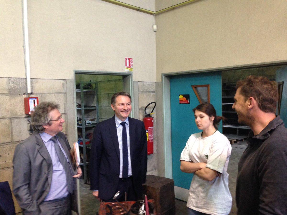 visite du cfa de la chambre des métiers de l'oise à #beauvais