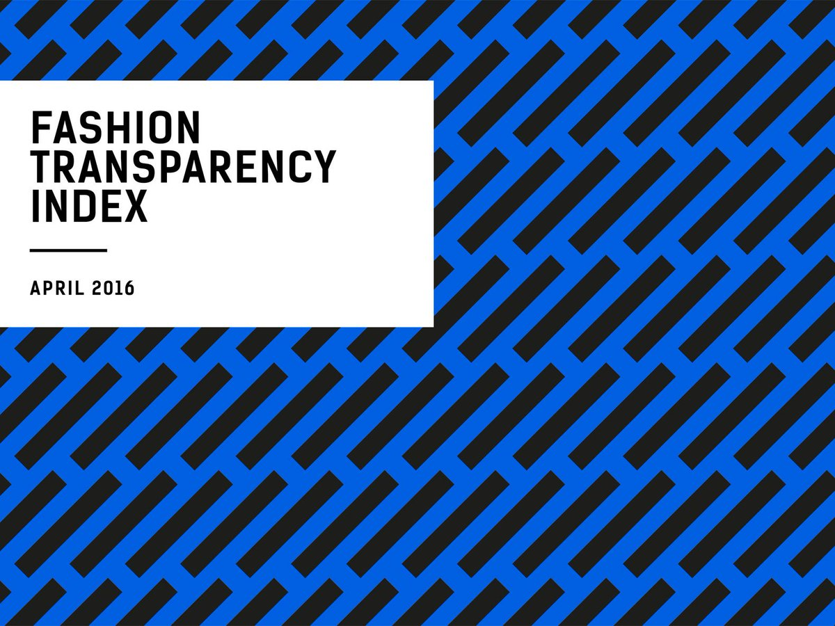 Fashion Revolution just launched its Transparency Index, ranking 40 leading apparel brands https://t.co/GDnDT7Bp0I https://t.co/h6LQ1KS8fc