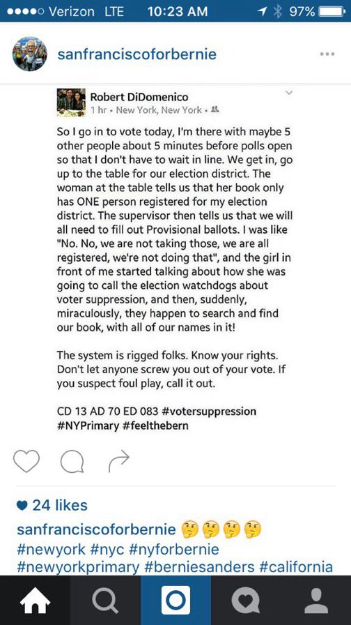 #VoterSuppression Before you accept a provisional ballot, know that this BS is going on.Demand your right to VOTE!!! https://t.co/4CCMmYTpqi