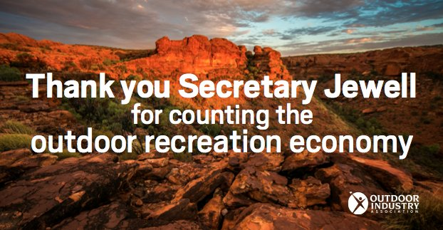 Proud to celebrate #NPS100 + leave a lasting legacy by quantifying the outdoor rec economy: https://t.co/aFjMJW78T2 https://t.co/jxxn1m65Uq