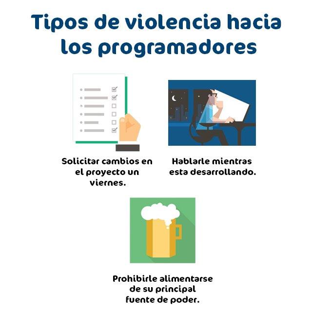 #GeekHumor Tipos de violencia hacia los programadores https://t.co/R7roBt43vl