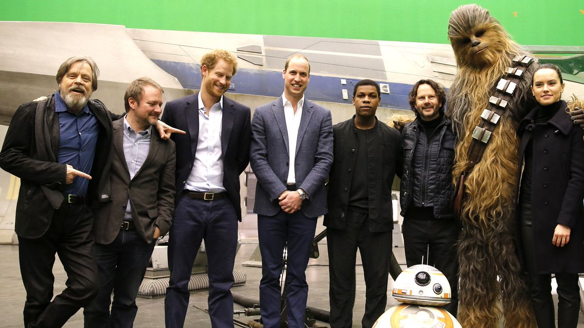 Daisy Ridley Took Princes William And Harry On A Tour Of The New Star Wars Set