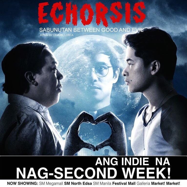 Ang indie na nag-second week! Catch #Echorsis now! @keancipriano @alexvincentm @KorekKaJohn https://t.co/MZH7tWyZg7